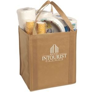 Large Non-Woven Grocery Tote Bag-Closeout
