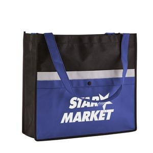 Corridor Non-Woven Snap Pocket Tote Bag