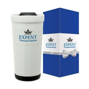 Latte 16 oz. Ceramic Travel Tumbler & Packaging