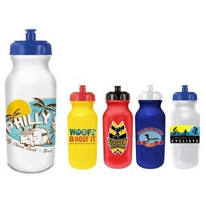 20 Oz. Value Cycle Bottle w/ Push 'n Pull Cap (Full Color Digital)