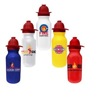 20 Oz. Value Cycle Bottle w/ Fireman Helmet Push 'n Pull Cap (Full Color Digital)