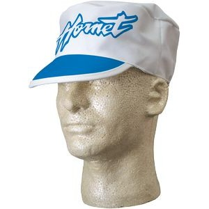 Poly-Cotton Twill Painter Cap with Color Cloth Visor Trim (White)