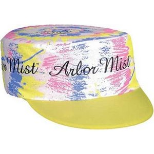 Tie Dye/Splatter Imprint Duck Painter's Cap