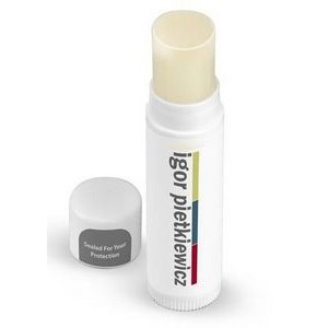 Natural Beeswax SPF15 Lip Balm --- White Cap