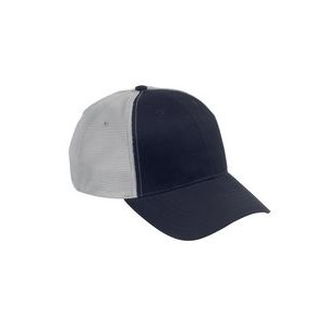 Big Accessories Old School Baseball Cap with Technical Mesh