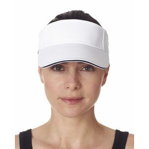 ULTRACLUB Adult Classic Cut Brushed Cotton Twill Sandwich Visor