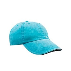 Anvil / Cotton Deluxe Adult Solid Low-Profile Sandwich Trim Twill Cap