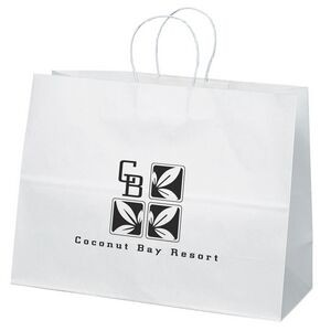 Vogue White Shopper Bag (Flexo Ink)