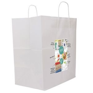 White Knight Sealable Paper Shoppers Bag (ColorVista)