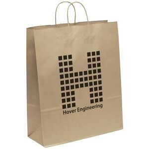 Eco Stephanie Kraft-Brown Shopper Bag (Flexo Ink)