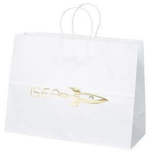 Vogue White Shopper Bag (Foil)