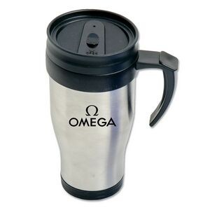 (16 Oz.) Stainless Steel Tumbler w/Handle