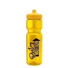 Champion 28 oz. Transparent Sports Bottle - Push Pull Lid
