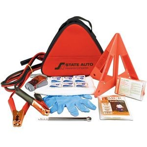 Deluxe Triangle Auto Safety Kit with First Aid Kit