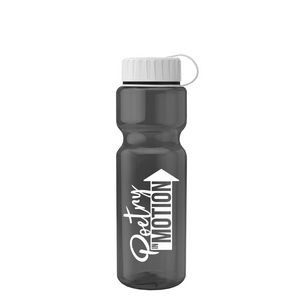 Champion 28 oz. Transparent Travel Sports Bottle - Tethered Lid