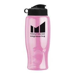 27 oz. Transparent Travel Sports Bottle - Flip Top Lid