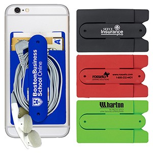 """Kickstart"" Two Function Soft Silicone Cell Phone Kickstand & Wallet"