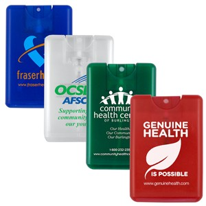 """SanCard"" 20 ml. Antibacterial Hand Sanitizer Spray in Credit Card Shape Bottle - (Full Color)"