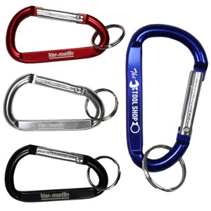 """Cara M"" Medium Size Carabiner Keyholder w/Split Ring Attachment"