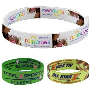 """Wrist Twist 3/4 In."" Stretchy Elastic Dry Sublimation Wristbands - PhotoImage® Full Color Imprint"