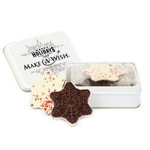 Keepsake Gift Tin w/Snowflake Peppermint Bark