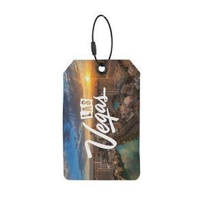 PIKES Recycled Dye-Sublimated Felt Luggage Tag