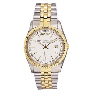 Pedre Men's 5th Avenue Two-Tone Watch (White Dial)