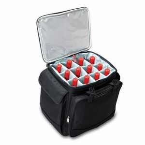 Bodega Insulated 12-Bottle Wine Tote Cooler w/Removable Dividers & Wheeled Trolley