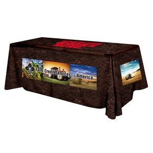 Polyester Digital Direct Print Table Cover 4 sided, 8 foot