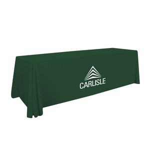 8' Value Lite Table Throw (White Imprint, One Location)