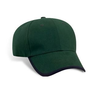 Brushed Cotton Twill Cap w/Peak & Arc Binding