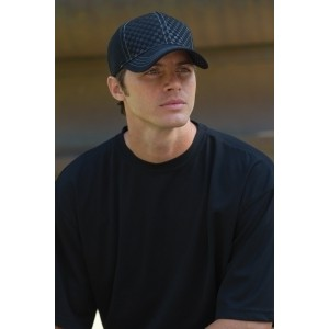 Adams Headwear Hipster Cap with Embossed Checkered Pattern-Closeout