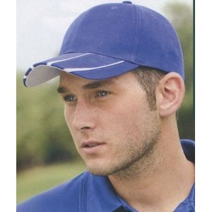 Adams Legend Brushed Twill Cap with contrast inserts on visor