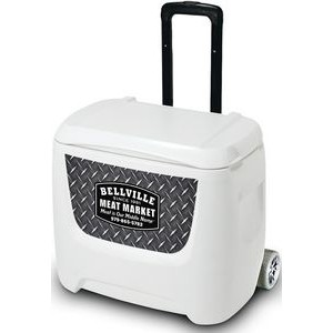 White Igloo® Breeze 28 Roller Cooler