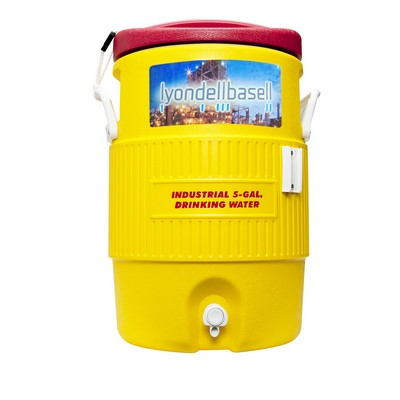 Safety Yellow Igloo® Industrial 5 Gallon Beverage Cooler